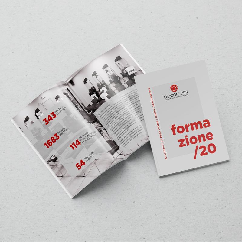 Accornero. Realizzazione grafica catalogo formazione 2020